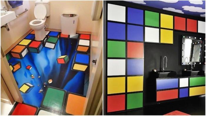Кубчето на Рубик оживява в банята