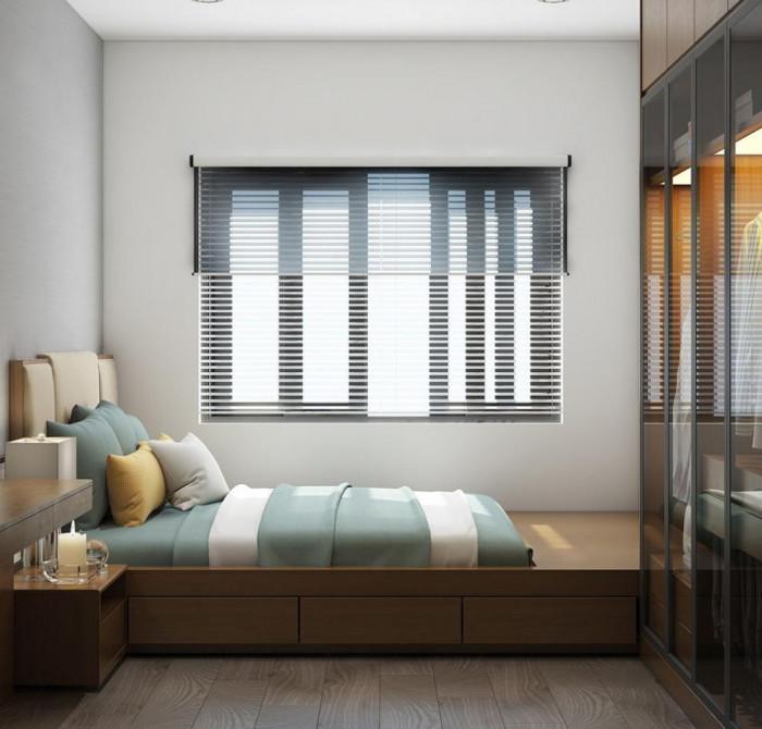 Светлината оживява в спалното помещение