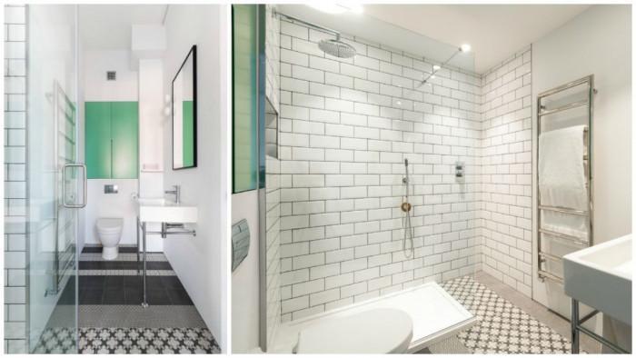 Перфектната баня в индустриален стил и малка симпатична тоалетна