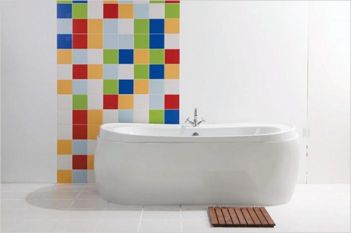 12 цветни идеи с плочки за баня