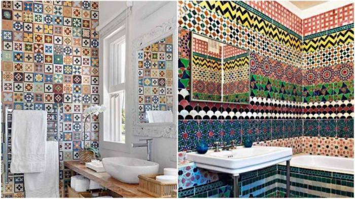 Неподражаем колорит в банята с португалски плочки