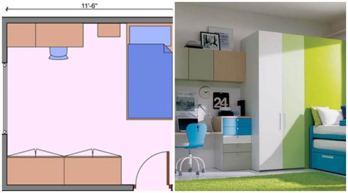 Предвидете повече място за съхранение в детска стая със средни размери