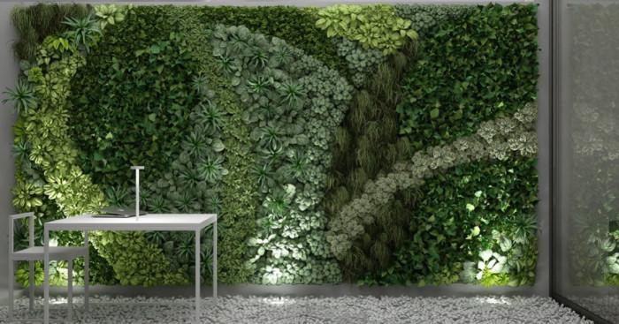 Изберете вида на вертикалната градина или стена