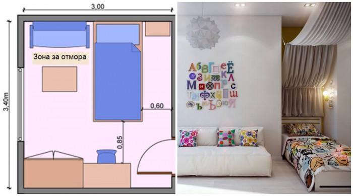 Поставете диван в детската стая, предназначена за тийнейджър