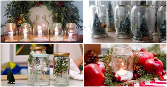 5 вълшебни начина да декорирате дома си за Коледа с... бурканчета