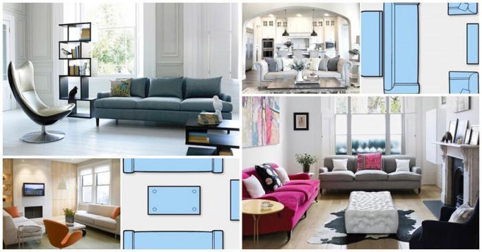 7 идеи за практично подреждане на мебелите в хола