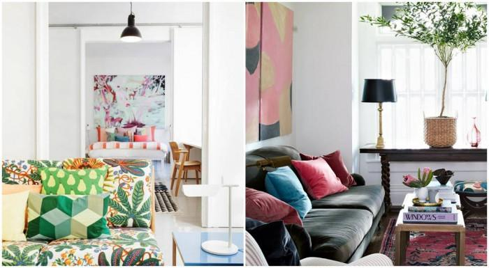 Внесете цветове, които да наситят стаята с позитивно настроение
