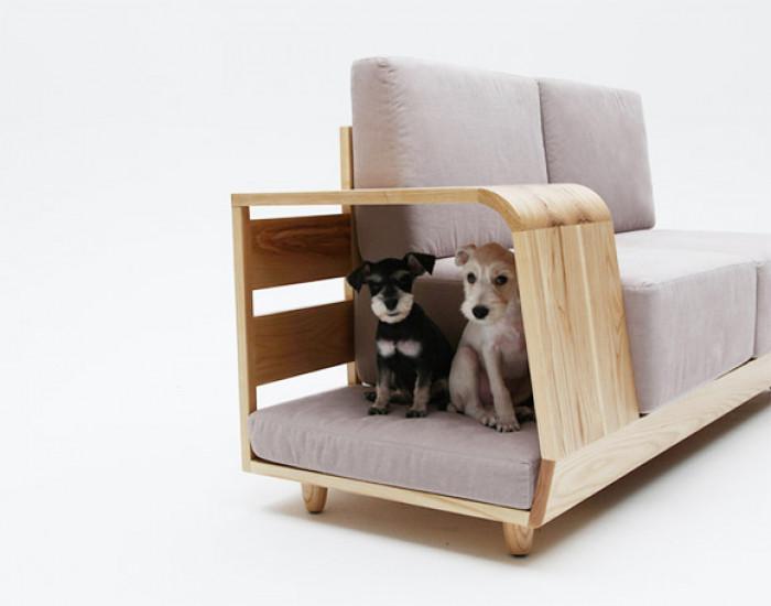 Подлакътникът на дивана приютява домашния любимец