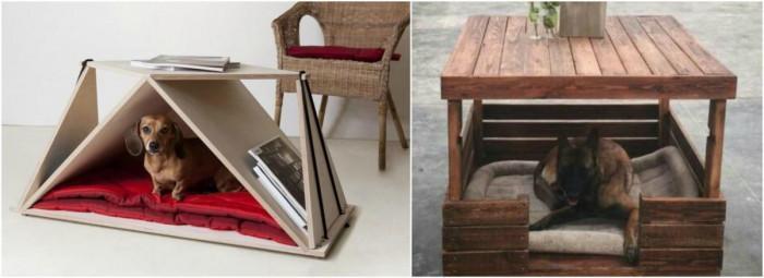 Превърнете холната маса в лична къщичка за кучето си