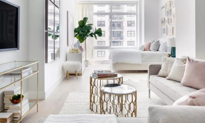 Апартамент в Ню Йорк: малко пространство, в което цари изискан стил и лукс