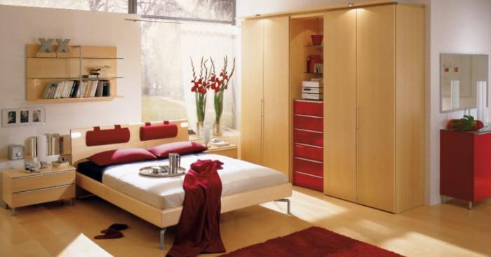 Спалня в червено за повече дързост, стил и романтика