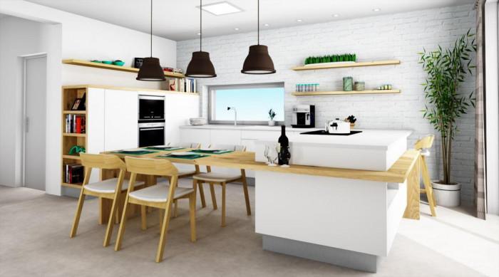 Модерна кухня? Прилича на хол и няма горни шкафове