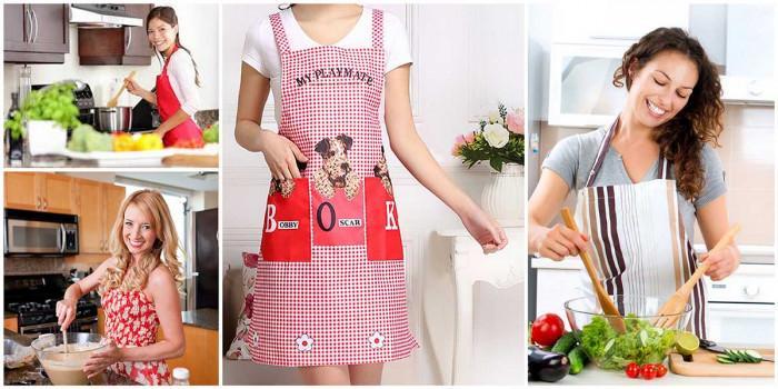 Опазете дрехите си с удобна кухненска престилка!