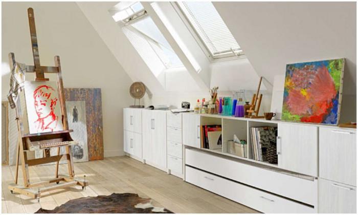 Практична и модерна идея за таванско помещение