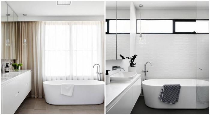 Изчистен дизайн и естествена светлина в банята