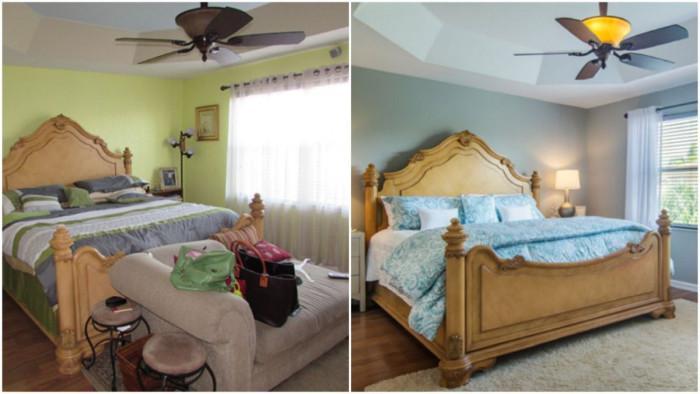 Зелената спалня се превръща в синя