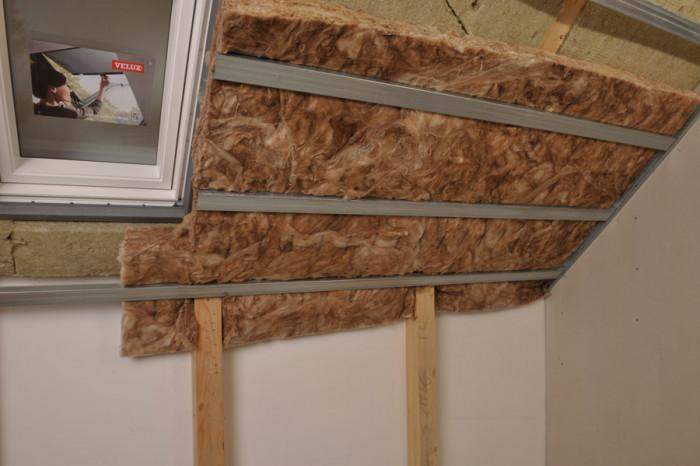 Вътрешното топлоизолиране на покрива