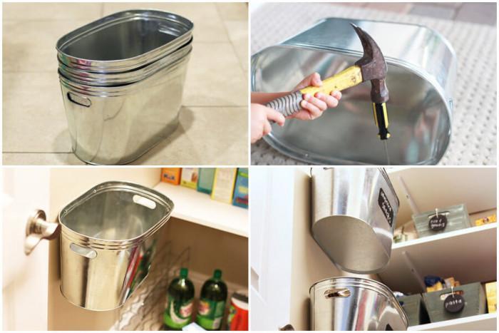 Организирайте килера с тези висящи метални кошчета