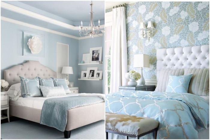 Светло синьо и бяло