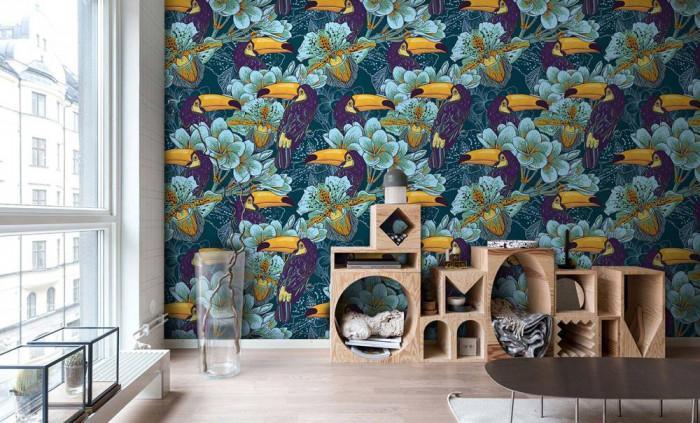 Изчистените геометрични форми са идеалният придружител на цветния тапет