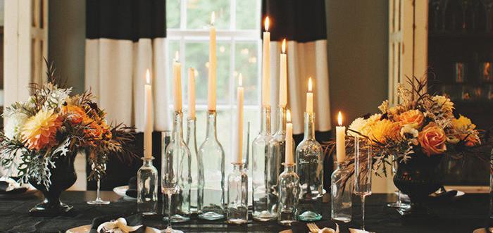 Свещници от бутилки