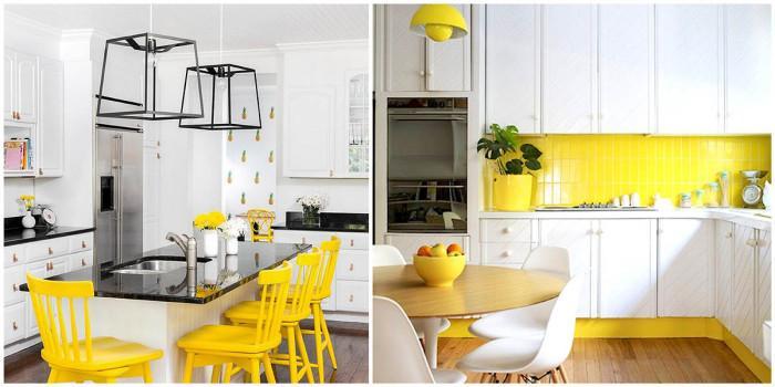 Перфектното съчетание - жълто с бяло