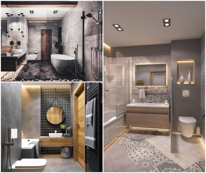 Класика в жанра – сива, красива и стилна баня!