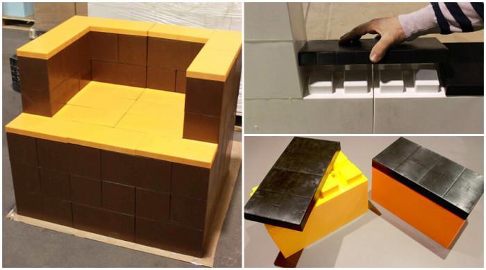 Специални покриващи елементи правят мебелите удобни