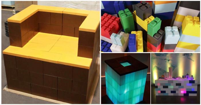 """Мебели от """"Лего"""" - съчетание на устойчивия материал и артистичното излъчване на съвременния дизайн"""