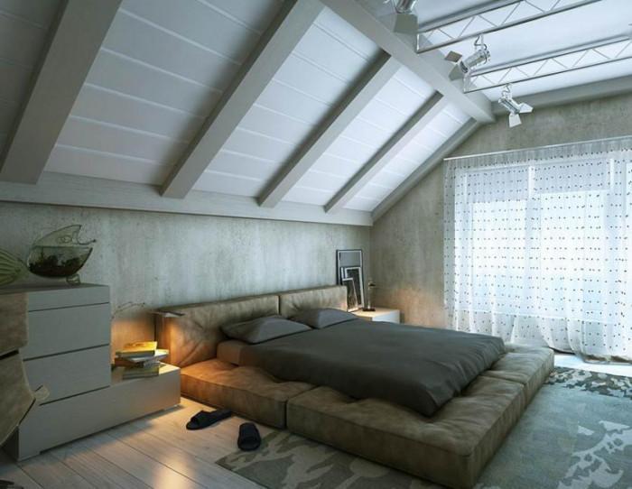 Спалня с ниско легло