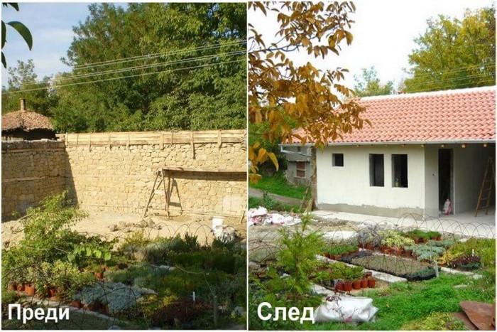 Преди и след ремонта: Старият плевник се трансформира в красива къща за гости