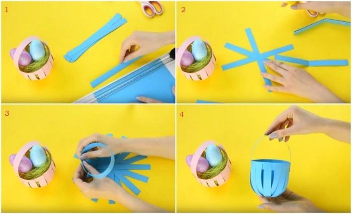 Направи си сам хартиена кошничка за великденски яйца