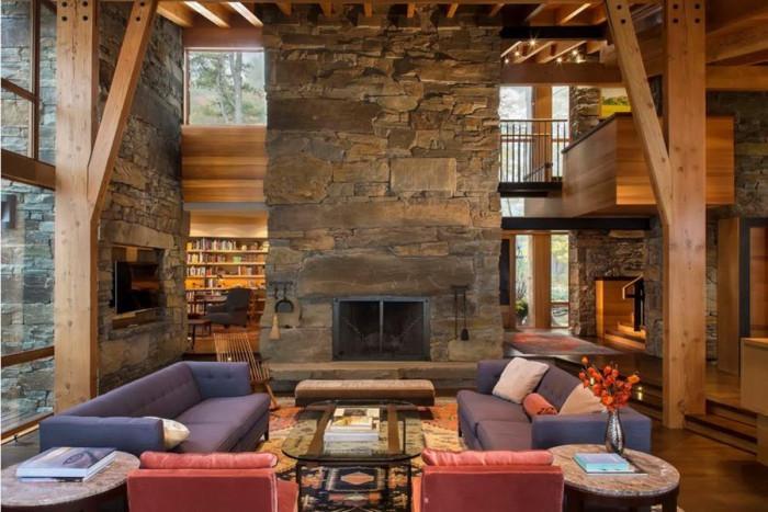 Комфортният интериор на дневната е невероятно стилен