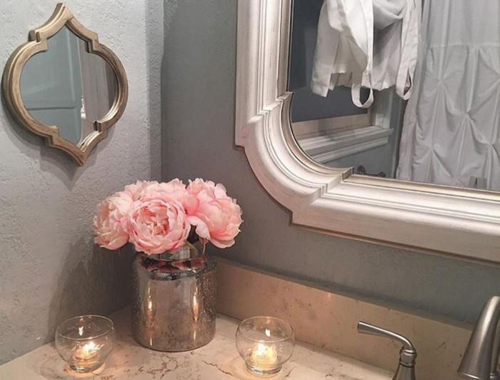Декорация за баня в розово