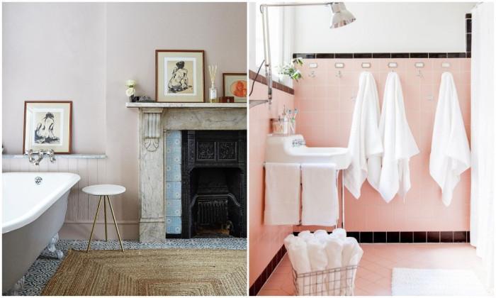 Как да включим розовия цвят в дизайна на баня?