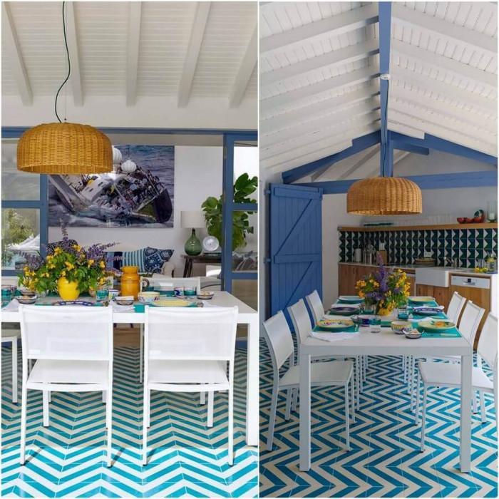 Трапезарията и кухнята са в едно общо уютно и очарователно помещение