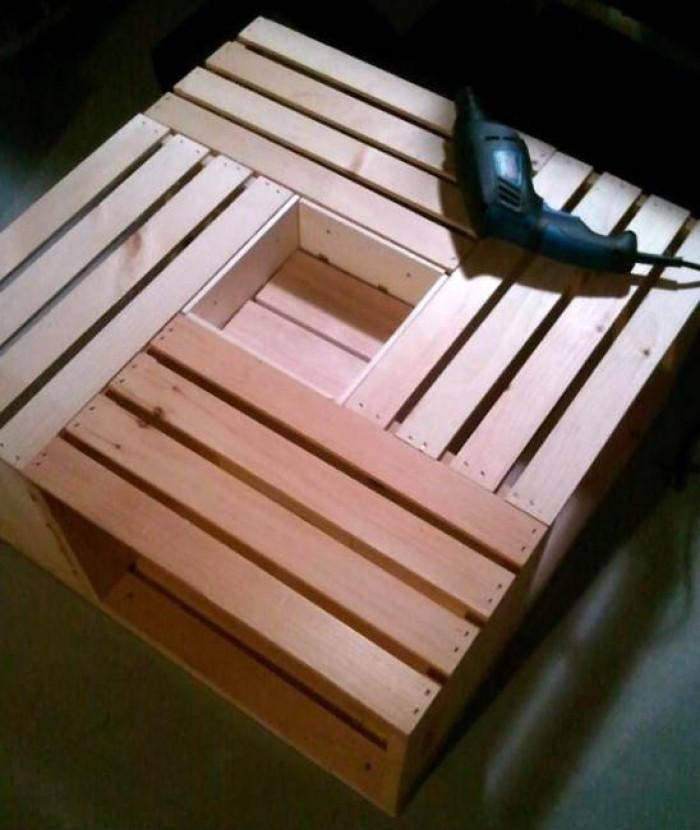 Кафе масичка от дървени щайги - стъпка 4