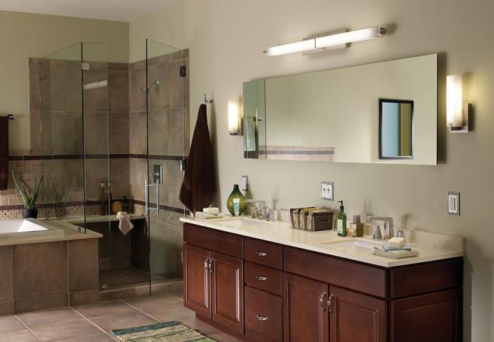 Лампи над огледалото - как да изберете правилния размер