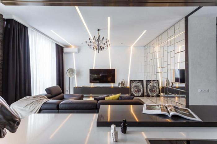 Високотехнологичен интериор – тук меката мебел е на почит