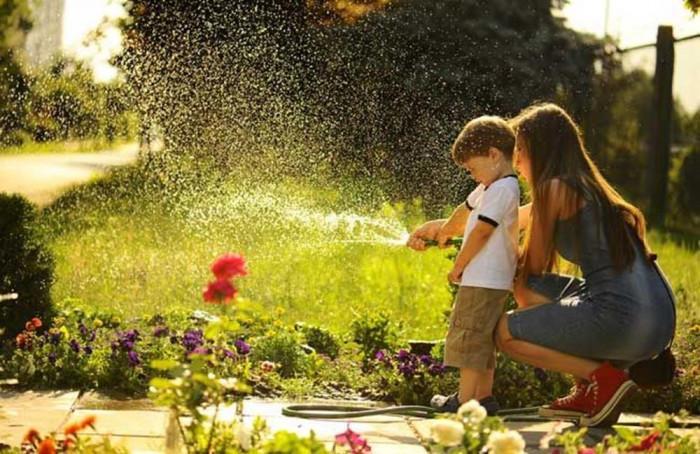 С каква вода да поливаме цветята в градината?