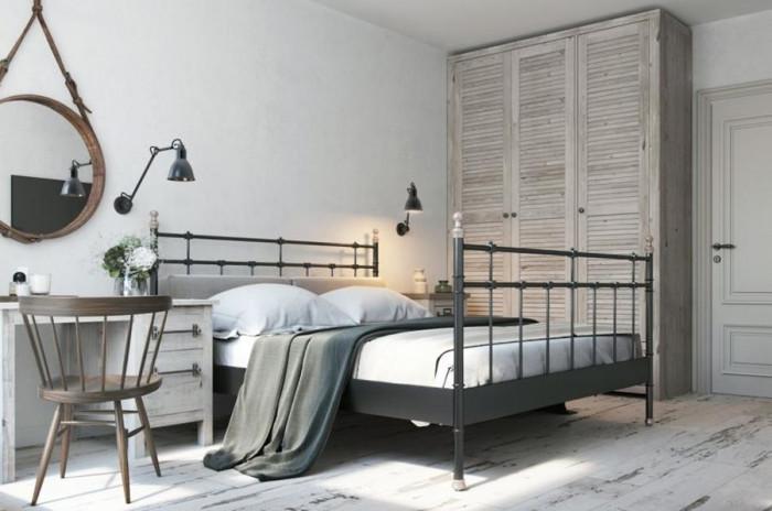 Черно, сиво и бяло за скандинавска спалня