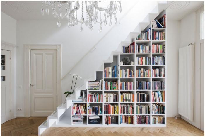 Превърнете стълбите в приказна библиотека