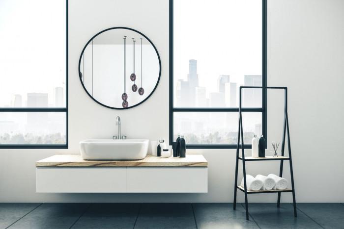 Сложете прозорци над мивката