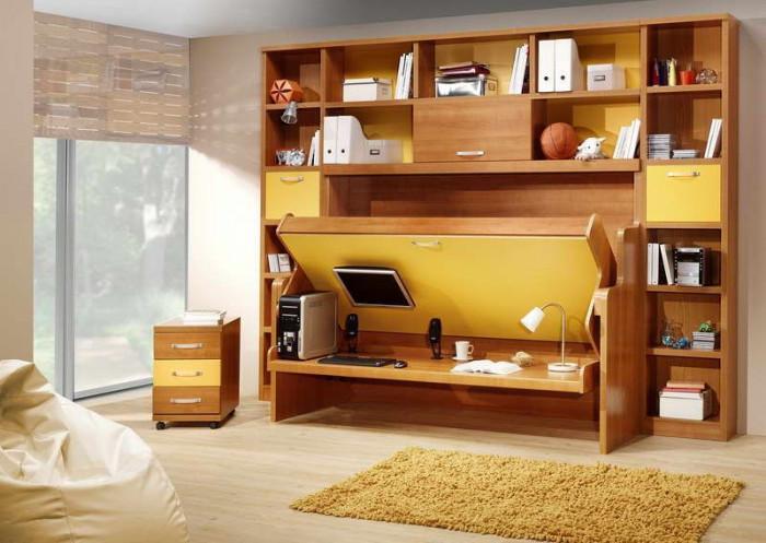 Сгъваемо легло тип бюро – атрактивен функционален елемент