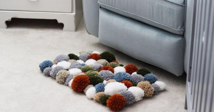 Как да си направим килимче от помпони?