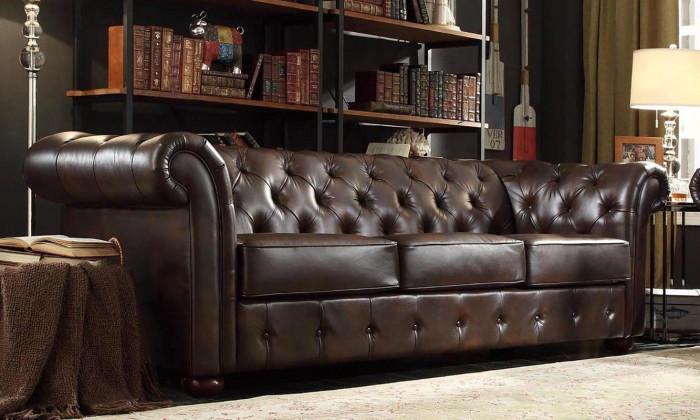 Винтидж диван от изкуствена кожа
