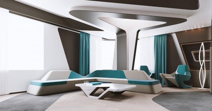 Футуристичен апартамент в Казахстан, вдъхновен от последните технологии