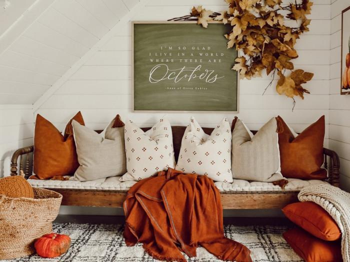 Одеяло с есенна гама