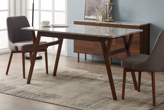 7. Правоъгълна маса с мраморен плот
