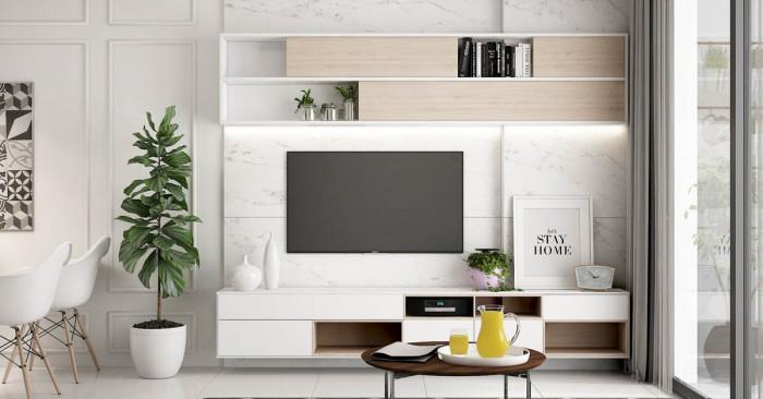 5 идеи за декорация на пространството зад телевизора